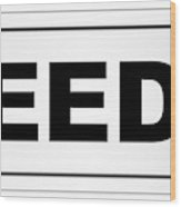 Leeds City Nameplate Wood Print