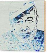 Legendary Hemingway Watercolor Wood Print