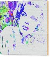 Legendary Judy Garland Watercolor I Wood Print