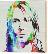 Legendary Kurt Cobain Watercolor Wood Print