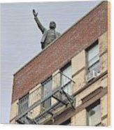 Lenin Statue In East Village N Y C Wood Print