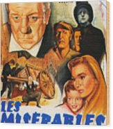 Les Miserables 1958 French Movie Classic Wood Print