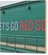 Let's Go Red Sox Wood Print
