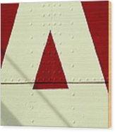 Letters On Lightship, Detail Wood Print