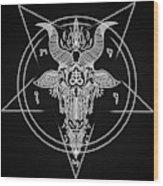 Leviathan Pentagram  Wood Print