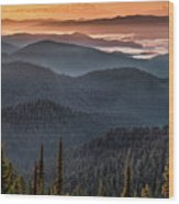 Lewis And Clark Route 2 Wood Print