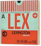 Lex Lexington Luggage Tag I Wood Print