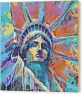 Liberty In Color Wood Print
