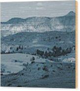 Light And Shadow In West Dakota Wood Print
