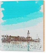 lighthouse 9, watercolor by Adam Asar Wood Print