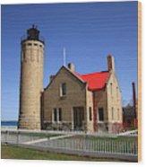 Lighthouse - Mackinac Point Michigan Wood Print