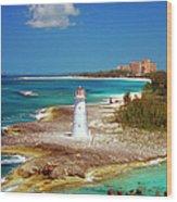 Lighthouse On Paradise Island-nassau Wood Print