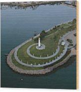 Lighthouse On The Coast, Long Beach Wood Print