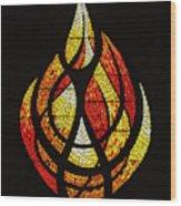 Lighting The Way - Wayland Kaltwasser Flame Wood Print