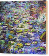 Lily  Pond Impressions Oil Painting Wood Print