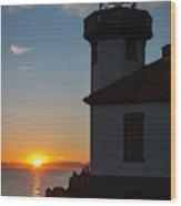 Lime Kiln Sunset Wood Print
