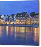 Limmat River Waterfront In Downtown Wood Print