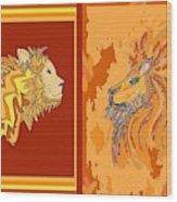 Lion Pair Hot Wood Print