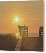 Listen To The Sunrise Wood Print