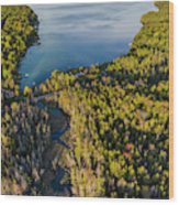 Litte Traverse Lake Vertical Panorama Wood Print
