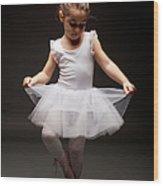 Little Ballerina Wood Print