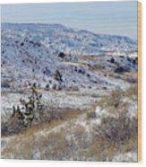 Little Missouri Winter Prairie Wood Print