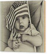 Little Patriot Wood Print