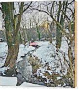 Little Red Walk Bridge Wood Print