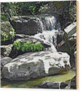 Little Waterfall. Wood Print