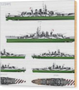 Littorio Class Battleships Wood Print