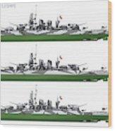 Littorio Class Battleships Port Side Wood Print