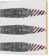 Littorio Class Battleships Top View Wood Print