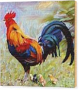 Local Chickens Wood Print