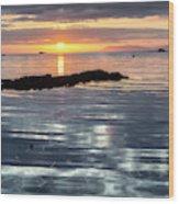 Lochmaddy Sunrise Wood Print