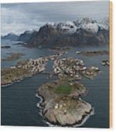 Lofoten Henningsvaer Wood Print