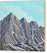 Lofty Peaks Wood Print