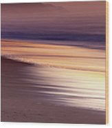 Long Exposure Of Water At Dawn With Wood Print