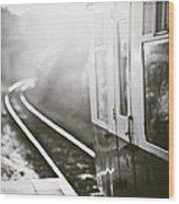 Long Train Running Wood Print