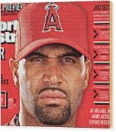 Los Angeles Angels Of Anaheim Albert Pujols, 2012 Mlb Sports Illustrated Cover Wood Print