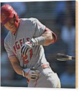 Los Angeles Angels V Minnesota Twins Wood Print