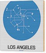 San Francisco Blue Subway Map Wood Print