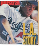 Los Angeles Dodgers Darryl Strawberry Sports Illustrated Cover Wood Print