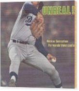 Los Angeles Dodgers Fernando Valenzuela... Sports Illustrated Cover Wood Print