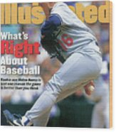 Los Angeles Dodgers Hideo Nomo... Sports Illustrated Cover Wood Print