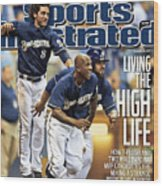 Los Angeles Dodgers V Milwaukee Brewers Sports Illustrated Cover Wood Print