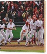 Los Angeles Dodgers V Philadelphia Wood Print