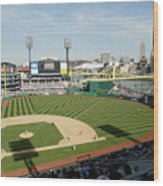Los Angeles Dodgers V Pittsburgh Pirates Wood Print