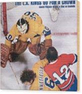 Los Angeles Kings Goalie Rogatien Vachon Sports Illustrated Cover Wood Print