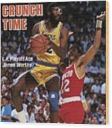 Los Angeles Lakers James Worthy, 1986 Nba Western Sports Illustrated Cover Wood Print