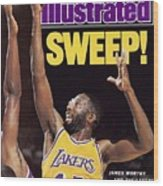 Los Angeles Lakers James Worthy, 1989 Nba Western Sports Illustrated Cover Wood Print